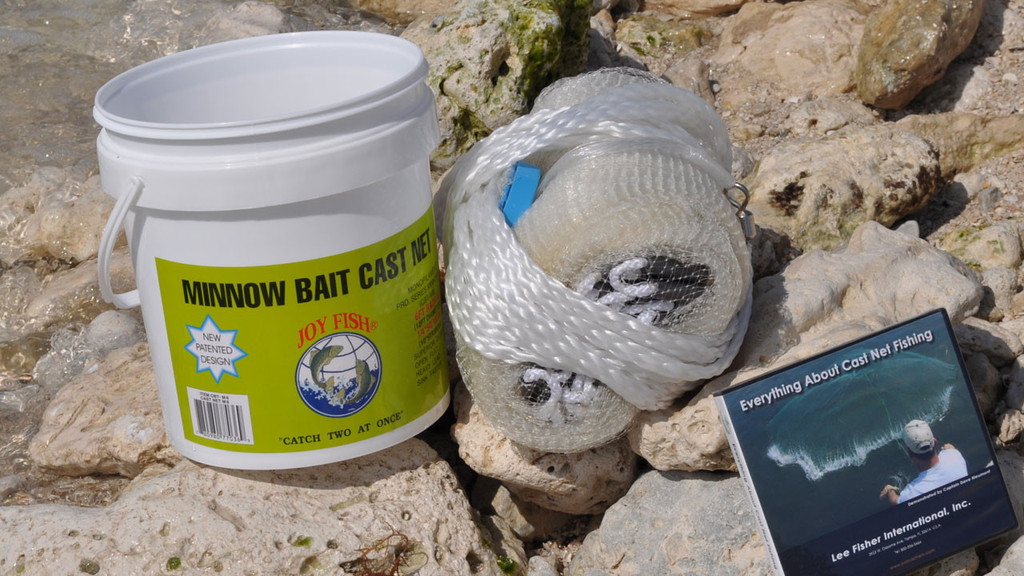 Joy fish minnow cast nets 1 4 sq mesh for Joy fishing tackle