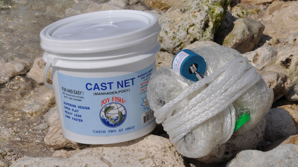 Joy fish menhaden nets 5 8 sq mesh for Joy fishing tackle