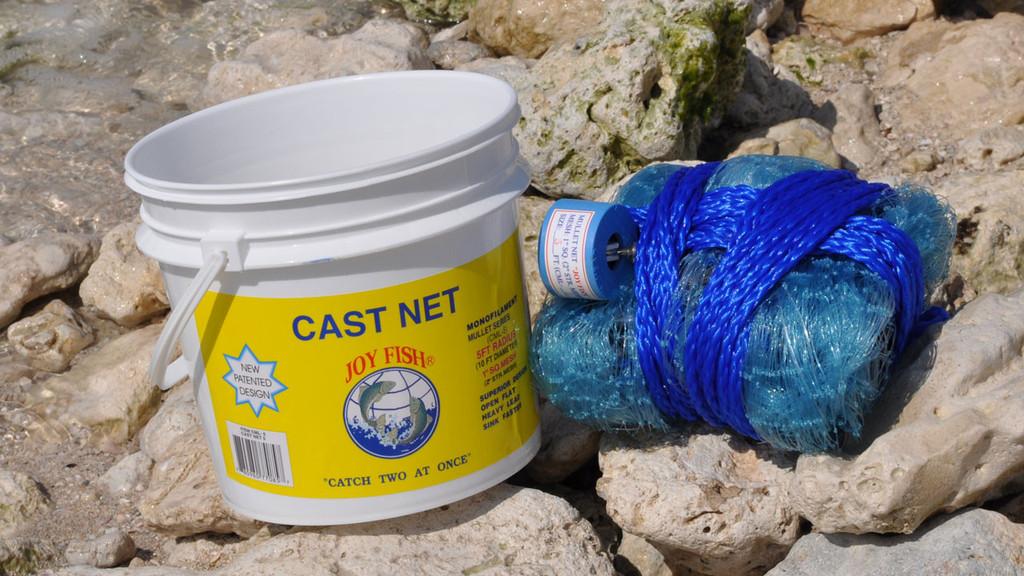 Joy fish mullet cast nets 1 sq mesh for Joy fishing tackle